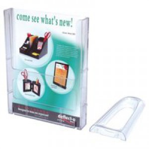 Literature Holder Connectable Modular Wall Mountable A4 Clear