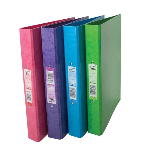 Concord Contrast Ring Binder Laminated 2 O-Ring Capacity 25mm A4 Raspberry Ref 82201 [Pack 10]