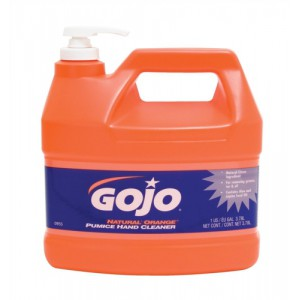 Gojo Natural Orange Hand Cleaner Grease-removing with Pumice Particles and Aloe 3.78 Litre Ref N06298