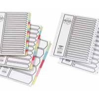 Concord Recycled Dividers 230 micron Card with Coloured Tabs 5-Part A4 White Ref 48099