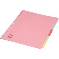 Concord Subject Divider 5-Part A4 Extra-Wide for Punched Pocket 71399/J13
