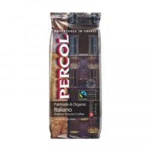Percol Fairtrade Italiano Ground Coffee Organic Medium Roasted 227g Ref A07359