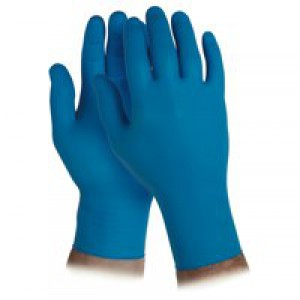 Kleenguard G10 Nitrile Gloves Powder Free Natural Rubber Medium Arctic Blue Box 200 Code 90097