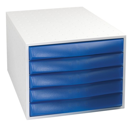 Exacompta Polymorf Drawer Set Plastic Robust Stable A4plus Blue Ref 200210D