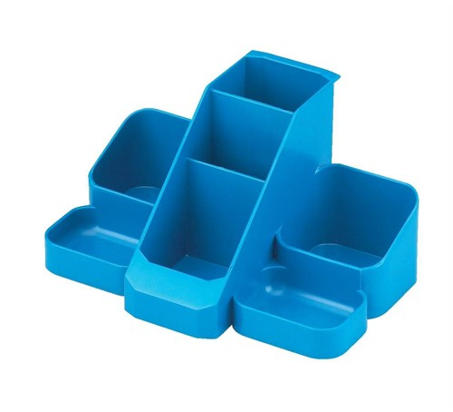 Avery Basics Desk Tidy 7 Compartments 164x116x85mm Blue Code 1137BLUE