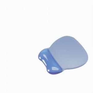 Mouse Mat Pad Wrist Rest Non Skid Easy Clean Soft Gel Transparent Blue