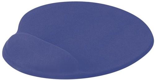 Mouse Mat Ergonomic Non Slip with Gel Wrist Rest Blue
