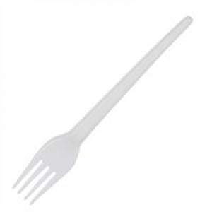 CaterX Plastic Forks White Pack 100