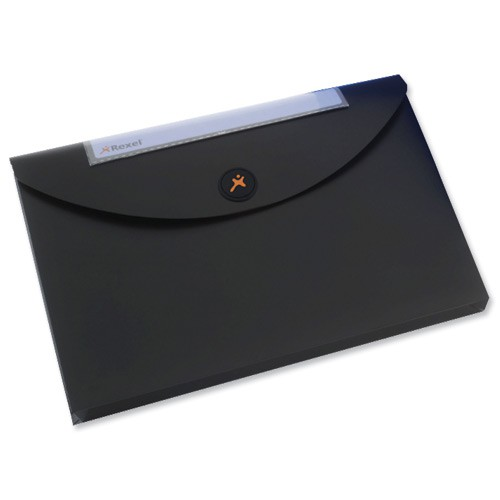Rexel Optima Doc Wallet Blk Pk3 2102479
