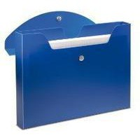 Rexel Optima Document Wallet Polypropylene Magnetic-seal for 150 Sheets A4 Blue Ref 2102480 [Pack 3]