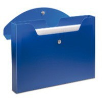 Rexel Optima Job Box Polypropylene Magnetic-seal for 400 Sheets 40mm A4 Blue Ref 2102482