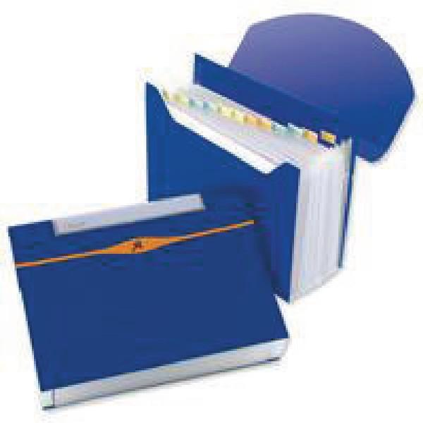 Rexel Optima Expander File 13 Part Blue Code 2102484