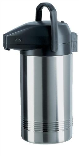 Pump Pot Vacuum Jug Stainless Steel Interior 3.8L