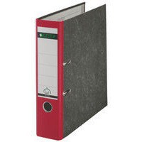 Leitz Standard Lever Arch File 80mm Spine A4 Red Ref 1080-25 [Pack 10]
