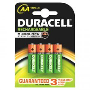 Duracell Rechargeable AA Batteries Pk4
