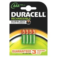 Image for Duracell AAA Stay Chrg Entry Battery Pk4