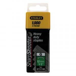 Stanley 12mm 1/2in Type G Staples Pk1000