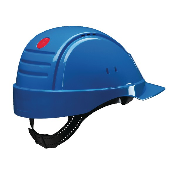3M Solaris Safety Helmet Ventilation Peltor Uvicator Neck Protection Blue Ref G2000CUV-BB