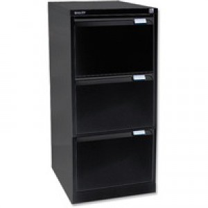 Bisley BS3E Filing Cabinet 3-Drawer H1016mm Black Ref BS3E-33