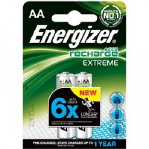Energizer Battery Rechargeable Nimh Capacity 2450Mah Hr6 1.2V AA Code 626178