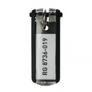 Durable Key Clip Black Ref 1957-01 [Pack 6]