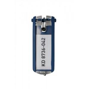 Durable Key Clip D Blue Ref 1957-07 [Pack 6]