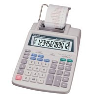 Aurora Calculator Printing Currency and Tax 12 Digit Battery and Mains 147x244x58mm Ref PR710