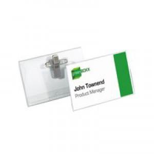 Durable CombiClip NameBadge 40x75mm Pk50