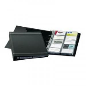 Durable Visifix Business Card Album 4 Ring A-Z Index Capacity 400 A4 Dark Blue Ref 2388-07