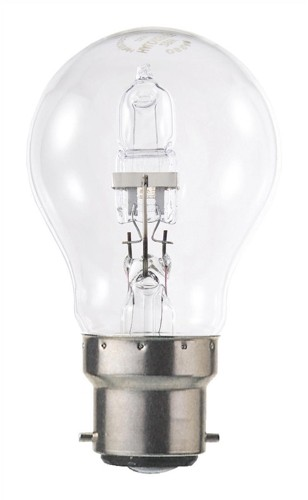 Light Bulb Energy Saving GLS Halogen Bayonet Fitting 70W Clear