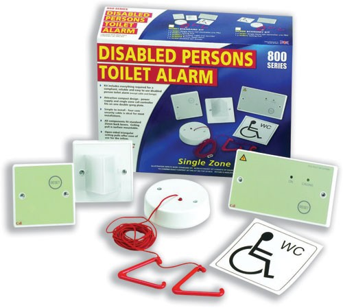 Disabled Persons Toilet Alarm Ceiling Unit with Cord and Moubting Accessories Ref NC951