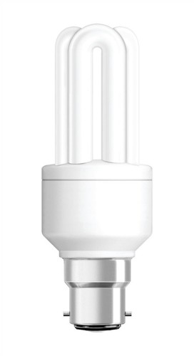 Light Bulb Energy Saving Compact Fluorescent Bayonet Fitting 8W