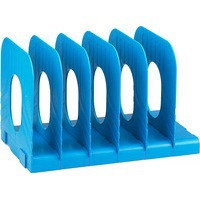 Avery Mainline Systemrack Book Rack Extendable 6 Sections W304xD183xH193mm Blue Ref 66MLBLUE
