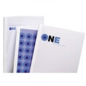 GBC A4 Thermal Binding Covers 3mm 200gsm PVC/Gloss Back Clear/White Pack 100 Code IB370021