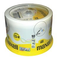 Imation CD-R Recordable Disk Write Once Spindle Printable 52x Speed 80Min 700MB Ref i17304 [Pack 50]