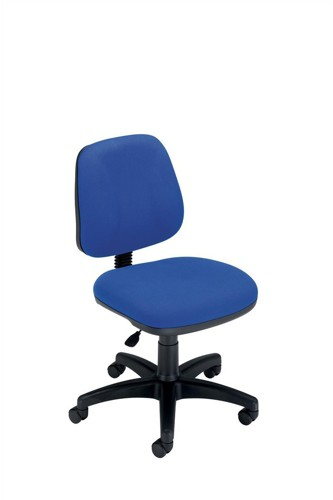 Trexus Intro Operators Chair Fixed Medium Back H390mm Seat W490xD450xH430-540mm Blue