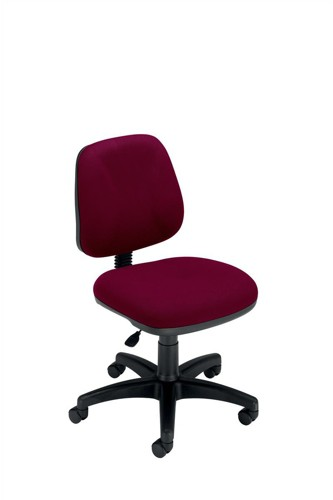 Trexus Intro Operators Chair Fixed Medium Back H390mm Seat W490xD450xH430-540mm Burgundy