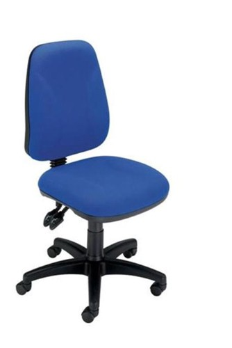 Trexus Intro Operators Chair Asynchronous High Back H490mm Seat W490xD450xH440-560mm Blue