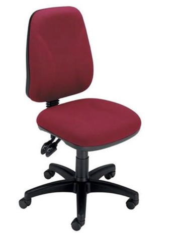 Trexus Intro Operators Chair Asynchronous High Back H490mm Seat W490xD450xH440-560mm Burgundy