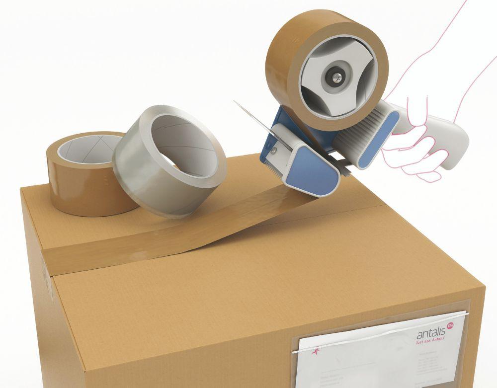 Advantage No Noise Polypropylene Acrylic ELN 48mmx66Metres Brown Pack 36