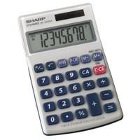 Sharp EL-240SAB Calculator Handheld Battery Solar-power 8 Digit 3 Key Memory