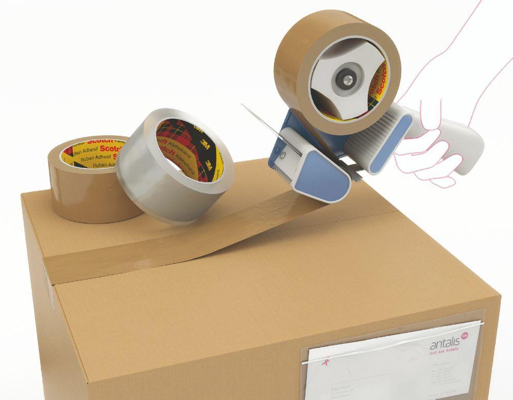 3M Scotch 371 Polypropylene Tape Buff 48mm x 990M Pack 6