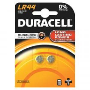 Duracell Coin Batteries Alkaline LR44 Pack 2 Code 15031682
