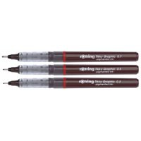 Rotring Xonox Graphic Drawing Pens Fibre-tip 0.3mm 0.5mm 0.7mm Ref S0814890 [Wallet of 3]