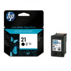 Hewlett Packard [HP] No. 21 Inkjet Cartridge Page Life 150pp 14ml Black Ref C9351AE