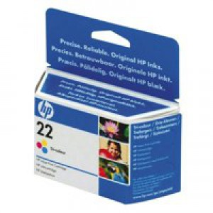 Hewlett Packard [HP] No. 22 Inkjet Cartridge Page Life 160pp 5ml Colour Ref C9352AE