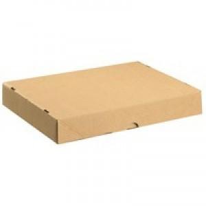 Box & Lid A4 305x215x50mm Brown Pk10