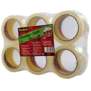 3M Scotch Packaging Tape Low Noise 48mmx66m Clear Code 3120CT