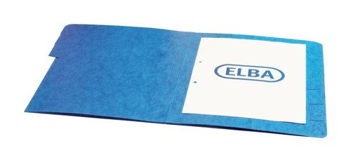 Elba Organiser File Pressboard Elasticated 5-Part Foolscap Blue Code 100090166