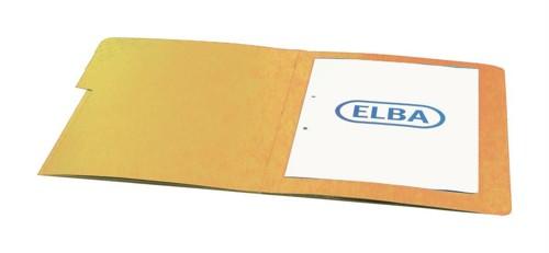 Elba Organiser File Pressboard Elasticated 5-Part Foolscap Yellow Ref 100090168 [Pack 5]